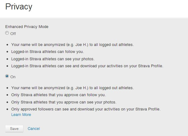 strava - privacy