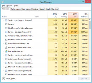 Windows 8 100% Disk Usage