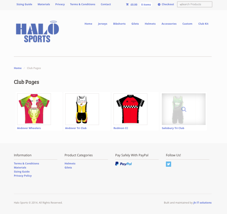 Custom Team Page Logins - Halo Sports